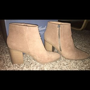 Universal Thread taupe booties - size 11